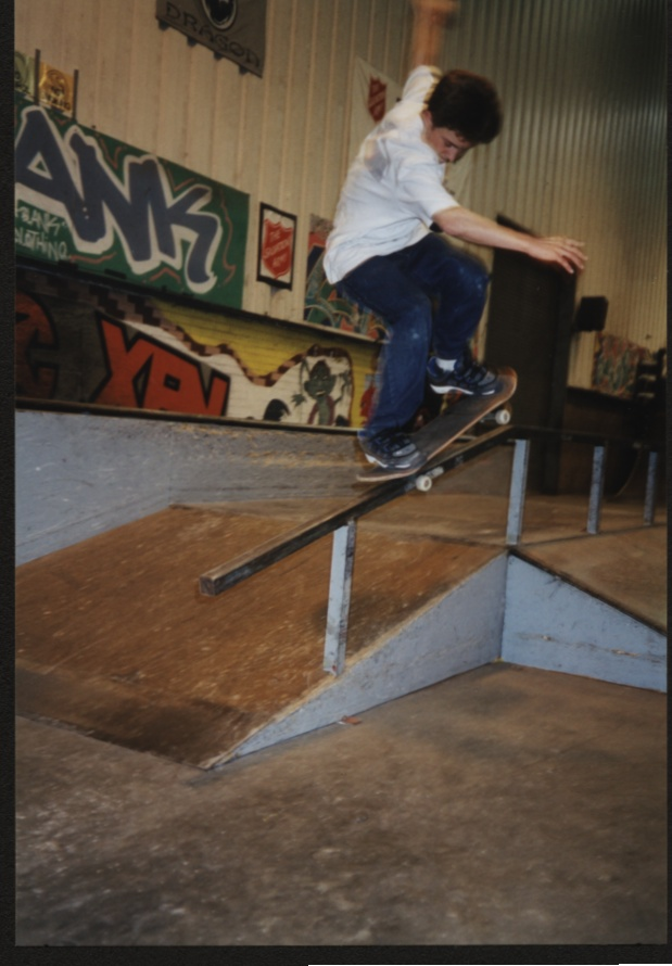 Skater: Matt Beanham Trick: fs Nosegrind at The Shed